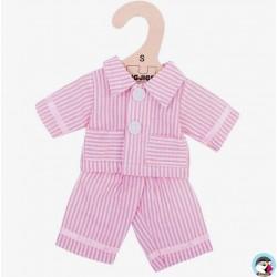 Bigjigs Veste et Pantalon de Pyjama rose pour Poupée de chiffon 25 cm