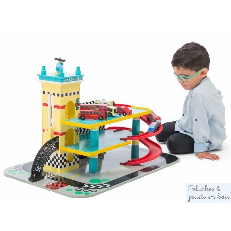 Jouet Garage De Mike En Bois Le Toy Van 9 Accessoires