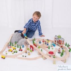 Bigjigs Grand circuit de Train de Montagne en bois