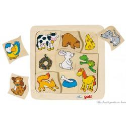 """Puzzle """"Qui mange quoi"""" 9 éléments"""