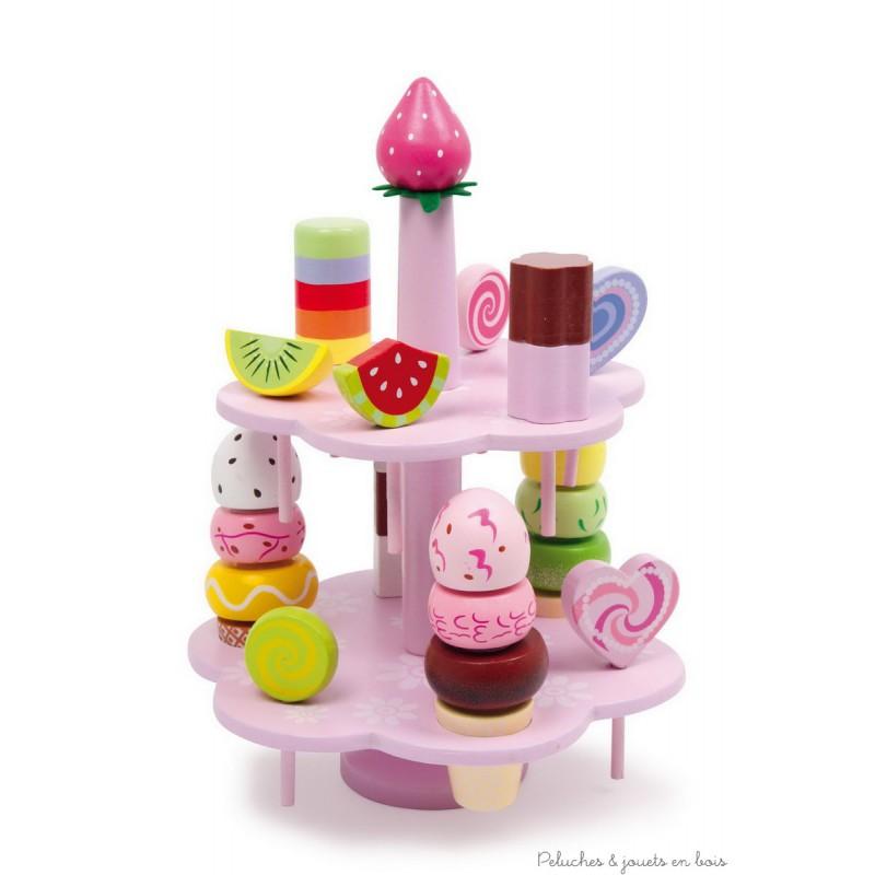 pr sentoir bonbons peluches et jouets en bois. Black Bedroom Furniture Sets. Home Design Ideas