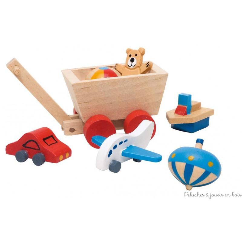 Accessoires chambre coucher des enfants pour maison de poup e peluches et jouets en bois for Accessoires chambre