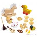 Goki Accessoires d'équipement de maison de poupée en bois