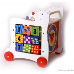 Ours Cube actif sur roulettes