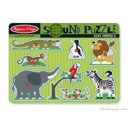 Puzzle sonore Animaux sauvages