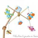 Mobile musical en bois thème bucolique Le coin des enfants