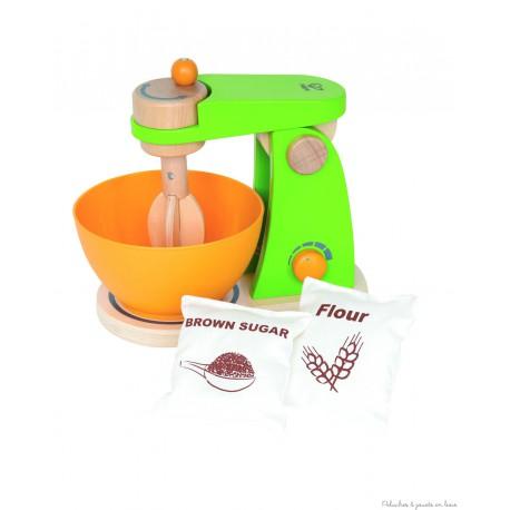 robot de cuisine avec sac à farine et sucre Hape