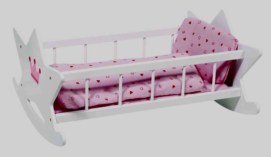 lit pour poupon en bois. Black Bedroom Furniture Sets. Home Design Ideas