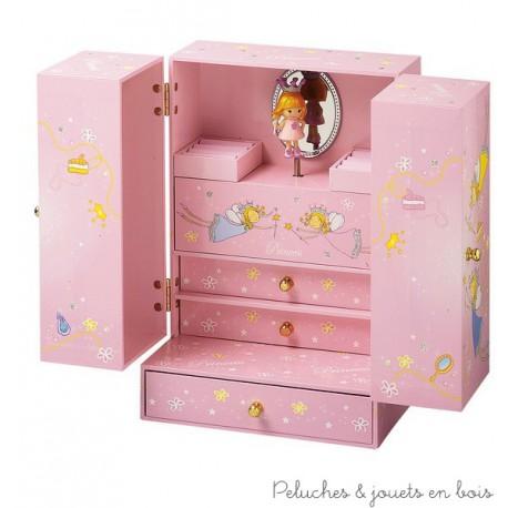 Armoire à bijoux musicale Princesse