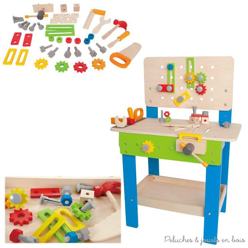 etabli de bricolage en bois hape peluches et jouets en bois. Black Bedroom Furniture Sets. Home Design Ideas