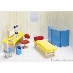 Meubles pour maison de poupées, salle de consultation de l'hôpital