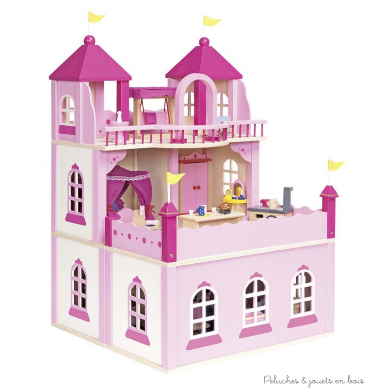 maison de poup e ch teau royal peluches et jouets en bois. Black Bedroom Furniture Sets. Home Design Ideas