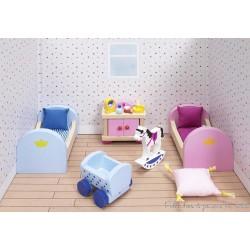 Meubles pour château de poupée, chambre des enfants