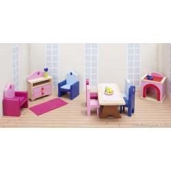 meubles pour château de poupée, salon et salle à manger
