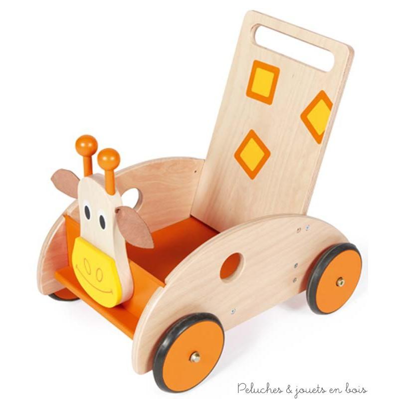 scratch chariot de marche girafe avec frein max 25kg de 1. Black Bedroom Furniture Sets. Home Design Ideas