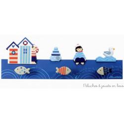 Porte-manteau couleur thème bord de mer