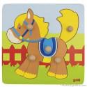 Puzzle à encastrements cheval