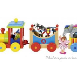 Train du cirque Livorno avec figurines