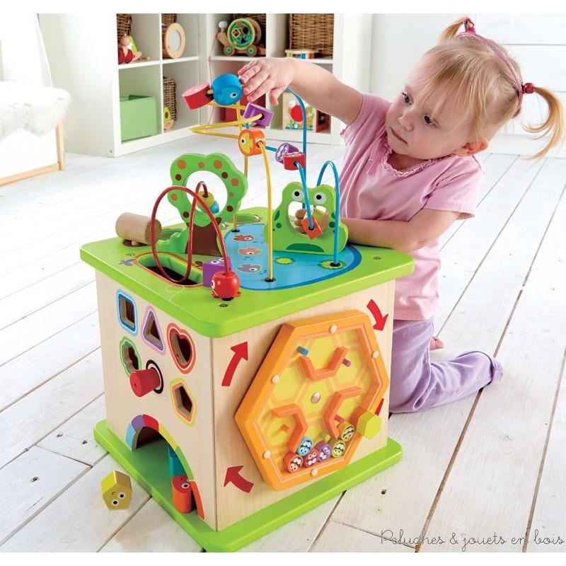 cube g ant multi activit s country critters jeux jouets en bois hape. Black Bedroom Furniture Sets. Home Design Ideas