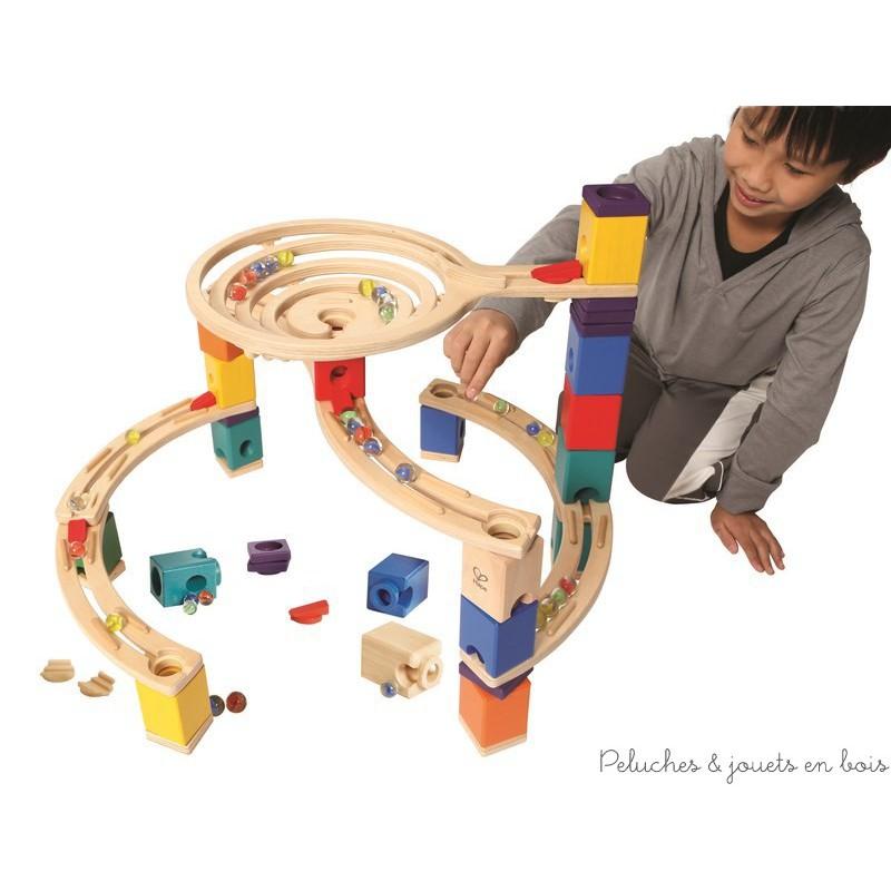 circuit de billes Tourbillon jeu de construction en bois