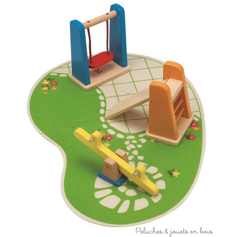 Jardin d 39 enfant accessoire pour maison de poup e hape for Maison de jardin jouet