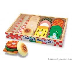 Set de sandwichs en bois