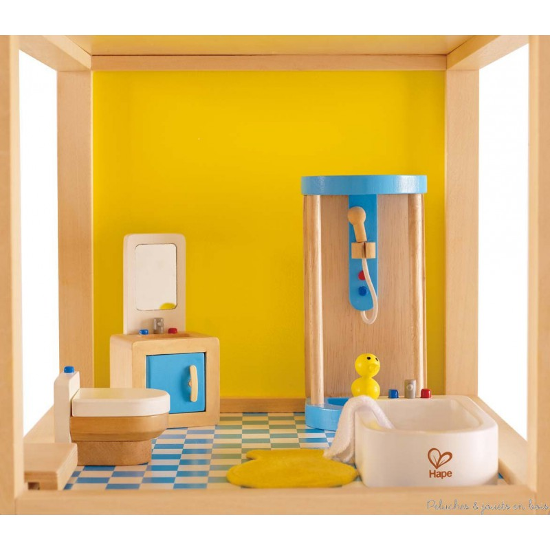 Meubles accessoires de salle de bain en bois textile - Meubles pour salle de bain ...