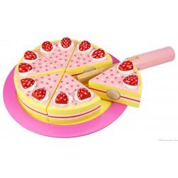 Bigjigs Gâteau à la fraise Jouet d'imitation en bois
