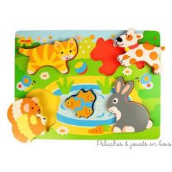 Puzzle en relief les animaux domestiques