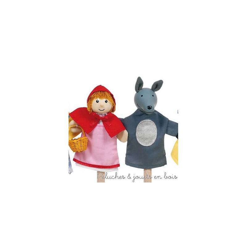Petit chaperon rouge 4 marionnette doigts peluches et jouets en bois - Marionnettes a doigts a imprimer ...