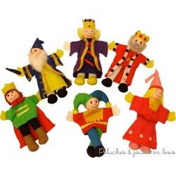 """Set de 6 marionnettes de doigt """"royales"""""""
