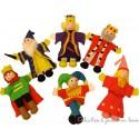 Bigjigs 6 marionnettes de doigt La cour royale