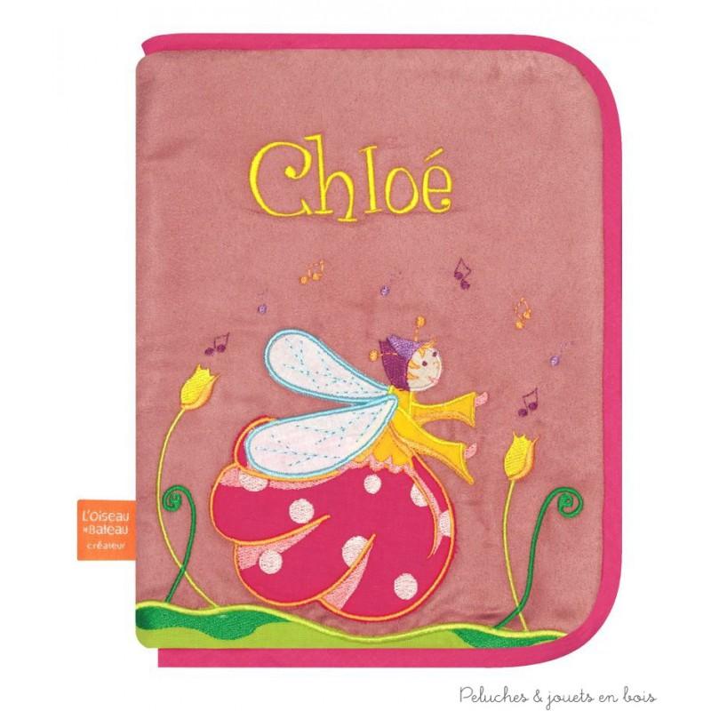 Prot ge carnet de sant cadeau personnalisable avec pr nom brod l 39 oiseau - Carnet de sante de l enfant ...