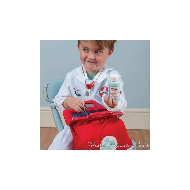 Toy van, Ma mallette de docteur Honeybake  Peluches et jouets en bois ~ Malette Docteur En Bois