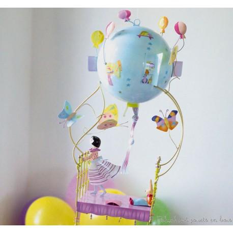mobile schlumpeter petite fille lit volant d co l 39 oiseau bateau. Black Bedroom Furniture Sets. Home Design Ideas