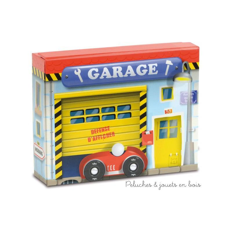 Mon coffret de garage de petites voitures en bois 3 ans vilac for Garage echange de voiture
