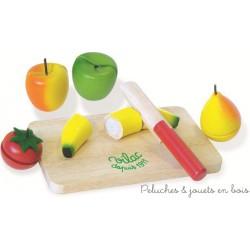 Dinette aliments et accessoires peluches et jouets en bois - Fruits et legumes de a a z ...