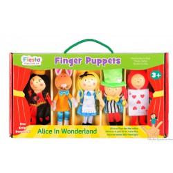 """Coffret de marionnettes à doigt """" Alice au pays des merveilles"""""""