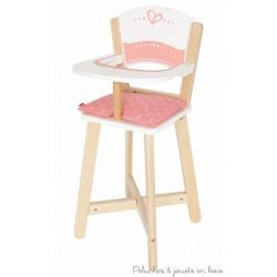 Chaise haute en bois pour poupée Hape