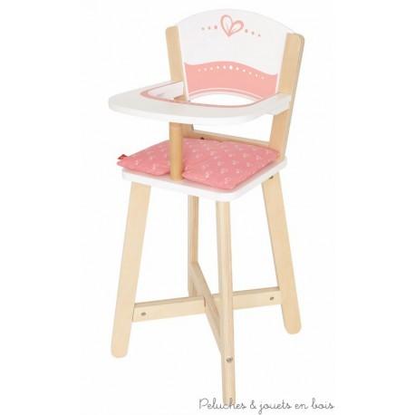 chaise haute en bois pour poup e hape peluches et jouets en bois. Black Bedroom Furniture Sets. Home Design Ideas