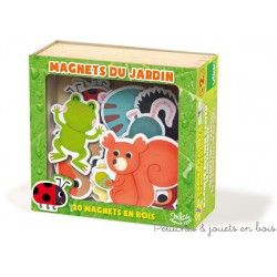 Magnets du jardin 20 pièces en coffret bois