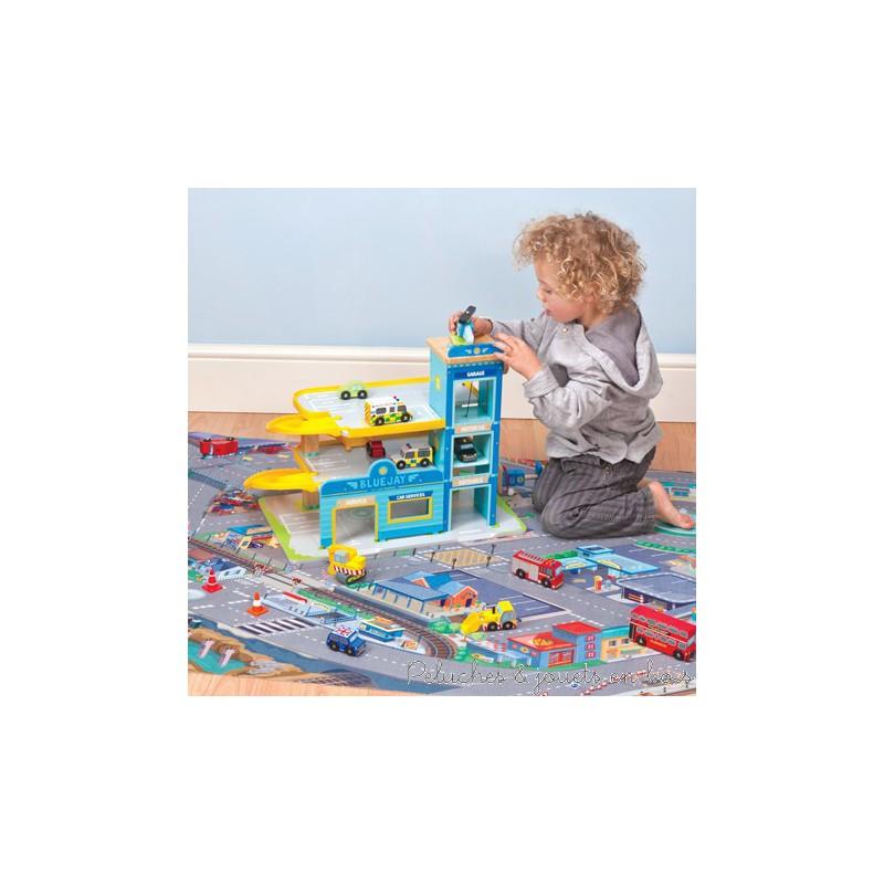 le toy van tapis de jeu voiture peluches et jouets en bois. Black Bedroom Furniture Sets. Home Design Ideas