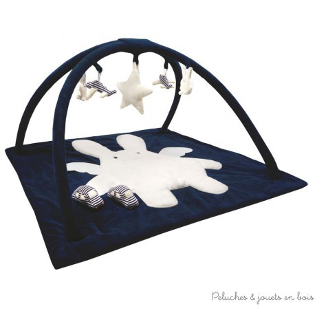 tapis d 39 veil musical carr bleu marine 90 cm trousselier d s 0 mois. Black Bedroom Furniture Sets. Home Design Ideas