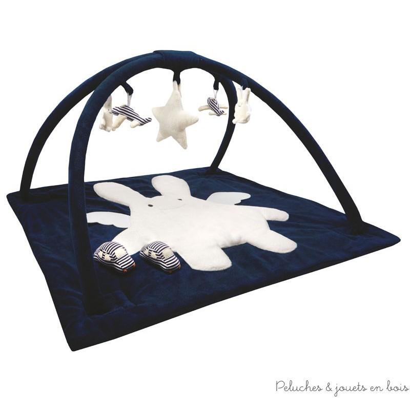 tapis d 233 veil musical carr 233 bleu marine 90 cm trousselier d 232 s 0 mois