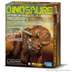 Déterre ton dinosaure, tricératops 4M Kidzlabs