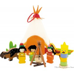 Le Tipi et son camp d'indiens