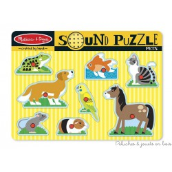 Puzzle sonore Animaux familiers