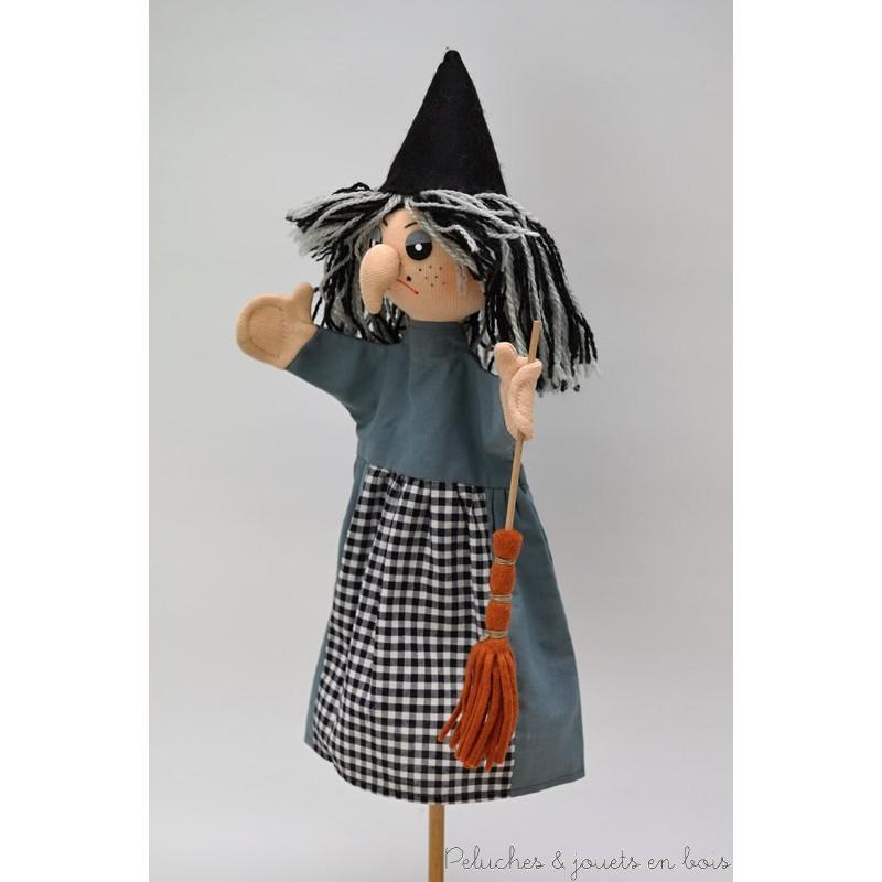 Marionnette personnage la sorci re sign e animascena le coin des enfants - Fabriquer une marionnette articulee ...