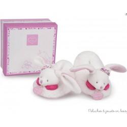 chaussons avec hochet 6-12 mois Cerise le lapin
