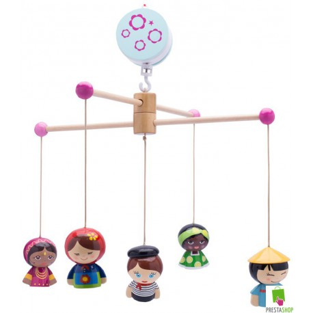 Mobile musical th me poup es du monde peluches et jouets - Code reduction maison du monde ...